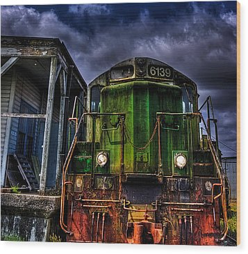 Wood Print featuring the photograph Old 6139 Locomotive by Thom Zehrfeld