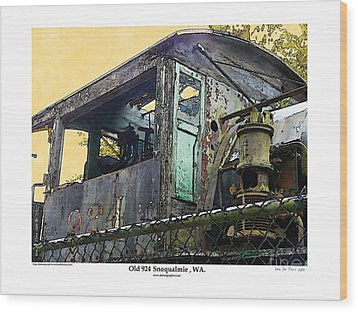 Wood Print featuring the photograph Old 924 by Kenneth De Tore