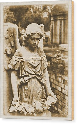 Wood Print featuring the photograph Blessed Angel   by Nadalyn Larsen