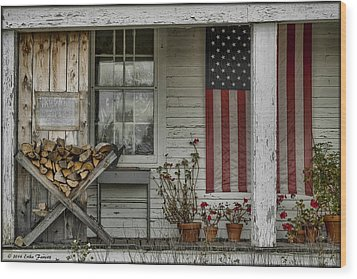 Old Apple Orchard Porch Wood Print