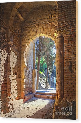 Old Archway Wood Print by Lutz Baar