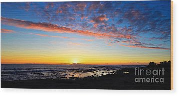 Wood Print featuring the photograph Old A's Panorama by David Lawson