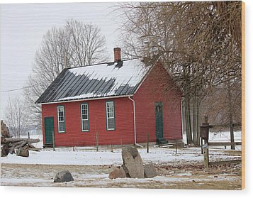 Old Ashland School House Wood Print