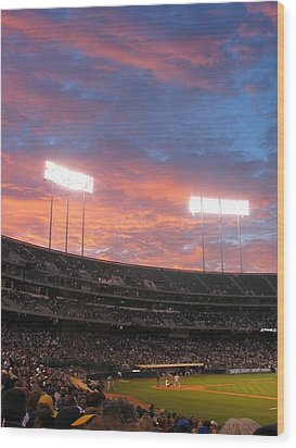 Old Ball Game Wood Print by Photographic Arts And Design Studio