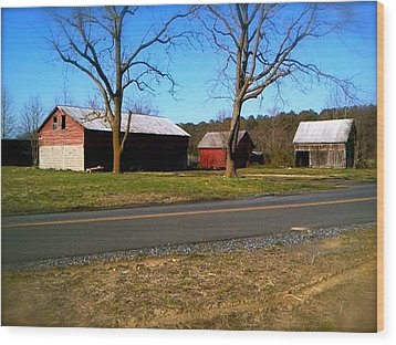 Wood Print featuring the photograph Old Barn by Amazing Photographs AKA Christian Wilson
