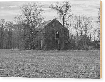 Wood Print featuring the photograph Old Barn by Charles Kraus