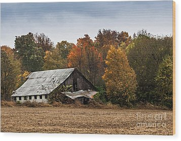 Wood Print featuring the photograph Old Barn by Debbie Green