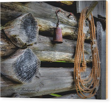 Old Barn Goods Wood Print