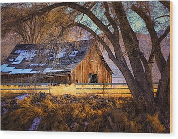 Old Barn In Sparks Wood Print