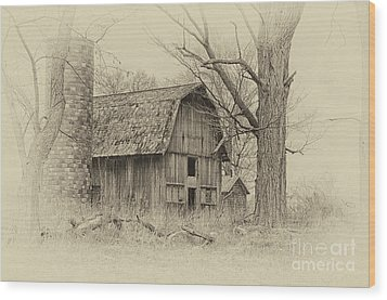 Old Barn Wood Print by JRP Photography