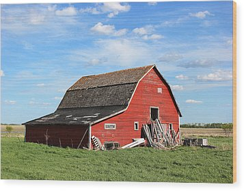 Wood Print featuring the photograph Old Barn by Ryan Crouse