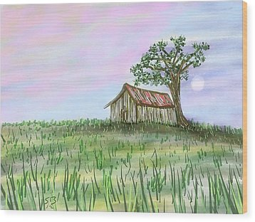 Old Barn Wood Print