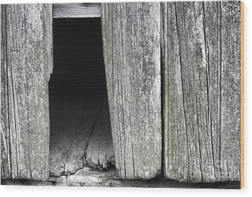 Old Barn Wall Wood Print by Olivier Le Queinec