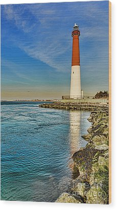 Wood Print featuring the photograph Old Barney At Sunrise - Barnegat Lighthouse by Lee Dos Santos