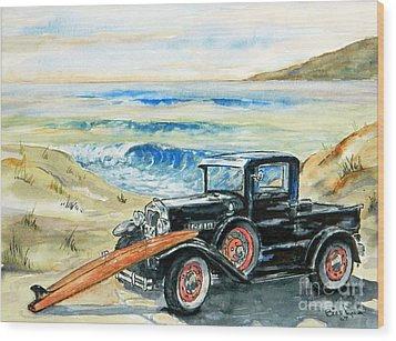 Old Beach Buggy Wood Print
