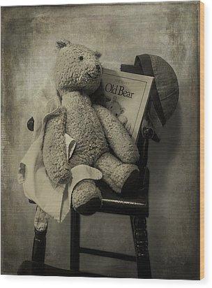 Old Bear Wood Print
