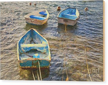 Wood Print featuring the photograph Old Bermuda Rowboats by Verena Matthew