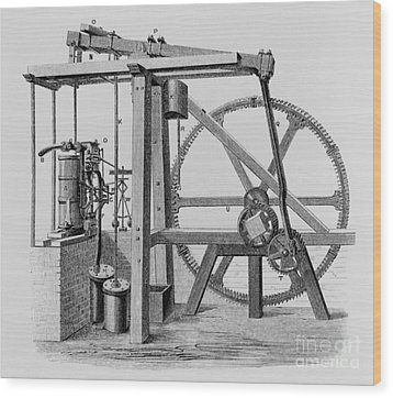 Old Bess Steam Engine Wood Print by SPL and Science Source