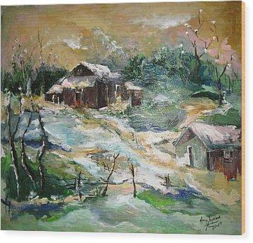 Old Bethpage Village Restoration Wood Print by Mary Spyridon Thompson