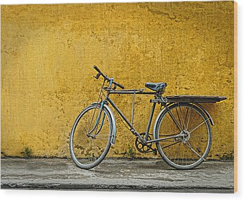 Wood Print featuring the photograph Old Bike by Kim Andelkovic