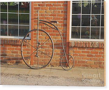 Wood Print featuring the photograph Old Bike by Mary Carol Story