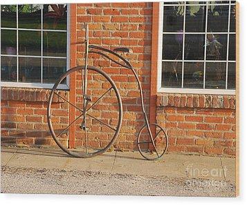 Old Bike Wood Print by Mary Carol Story
