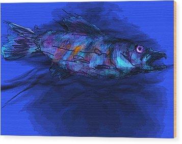 Old Blue Wood Print by Jim Vance
