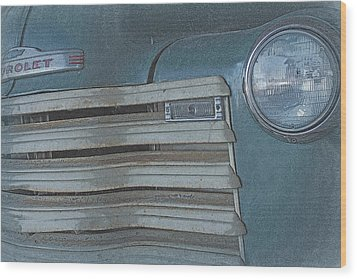 Wood Print featuring the photograph Old Blue by Lynn Sprowl