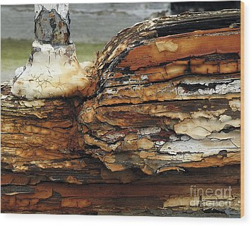 Wood Print featuring the photograph Old Boat by Inge Riis McDonald