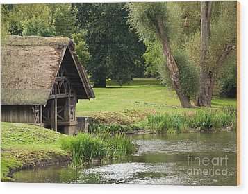 Old Boathouse Wood Print by Rick Piper Photography