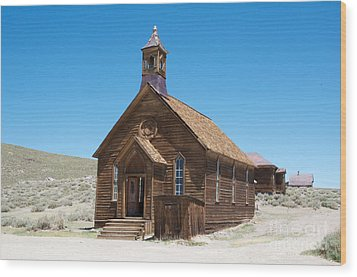 Wood Print featuring the photograph Old Bodie Church by Vinnie Oakes