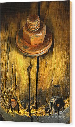 Old Bolt Wood Print by Newel Hunter