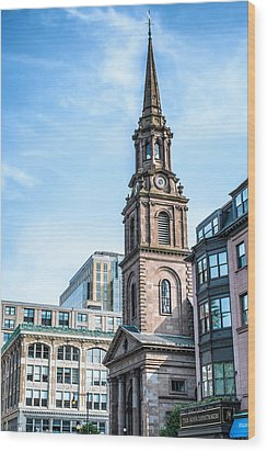 Wood Print featuring the photograph Old Boston by Boris Mordukhayev