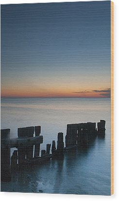 Old Breakwater Wood Print