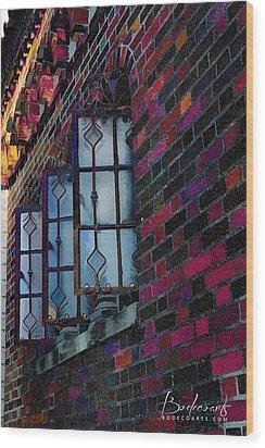 Old Brick Renewed Wood Print by Robin Lewis