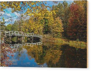 Old Bridge At Waterloo Wood Print by Eleanor Abramson
