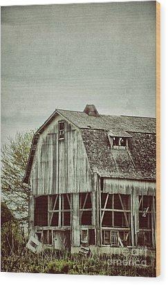 Old Broken Barn Wood Print by Birgit Tyrrell