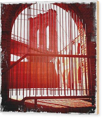 Old Brooklyn Wood Print by Frank Winters