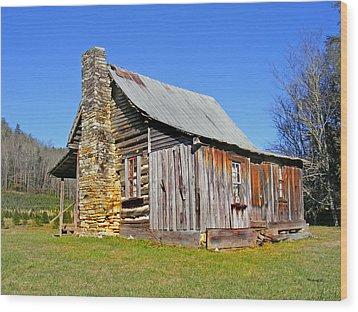 Old Cabin Along Macedonia Church Road Wood Print