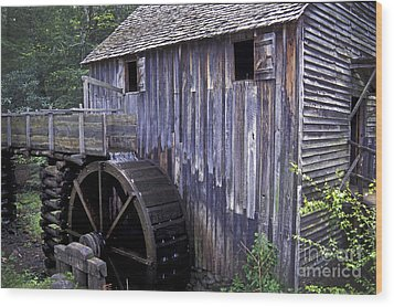 Old Cades Cove Mill Wood Print by Paul W Faust -  Impressions of Light