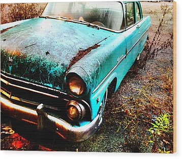 Old Car Wood Print by Janice Spivey