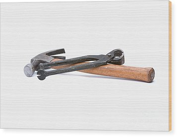 Old Carpenters Tools Wood Print by Stephen Baker