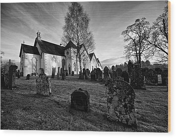 Wood Print featuring the photograph Old Church At Drymen by Stephen Taylor