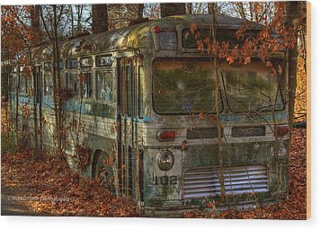 Old City Bus Wood Print by Paul Herrmann