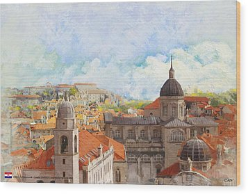 Old City Of Dubrovnik Wood Print by Catf