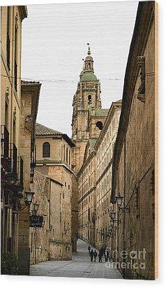 Old City Of Salamanca Spain Wood Print by Perry Van Munster