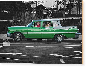 Old Classic Car II Wood Print by Patrick Boening