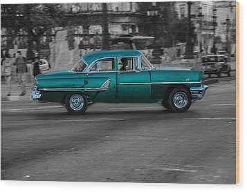 Old Classic Car IIi Wood Print by Patrick Boening