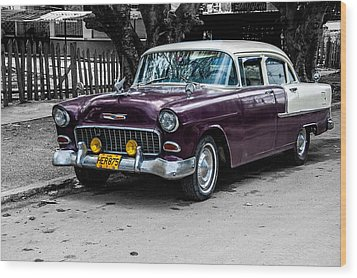 Old Classic Car Iv Wood Print by Patrick Boening
