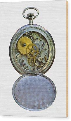 Old Clock Wood Print by Michal Boubin